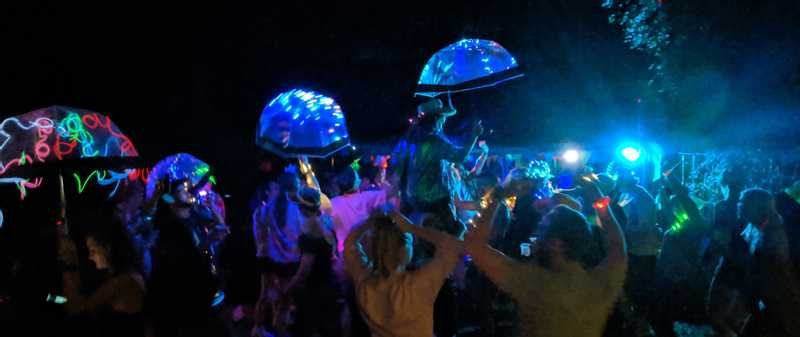 The Wood Party 2019 Jellyfish Umbrellas
